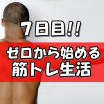 ガリガリからムキムキに!!マッチョ化計画【7日目】